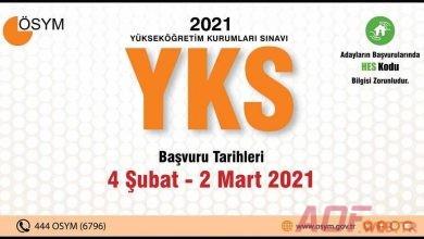 YKS Başvuru İşlemleri Başladı (2021)