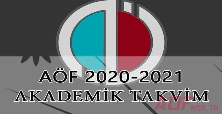 Açıköğretim 2020-2021 Akademik Takvim